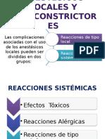 Anestésicos Locales y Vasoconstrictores