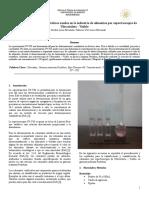 Evaluación de colorantes sintéticos usados en la industria de alimentos por espectroscopia de Ultravioleta - Visible