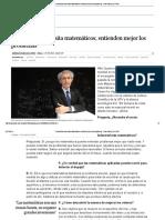 """""""La Industria Necesita Matemáticos; Entienden Mejor Los Problemas"""" _ País Vasco _ EL PAÍS"""