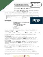 Série d'exercices N°1 - Algorithmique - Bac Informatique (2010-2011)  Elève Mahdhi Mabrouk