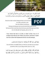 Khutbah - Green Khutbah April 22 2016