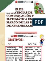 TALLER DE ESTRATEGIAS DE COMUNICACIÓN Y MATEMÁTICA.ppt