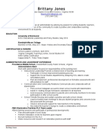 brittany jones resume final