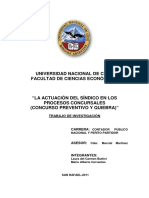Derecho Concursal - 2015