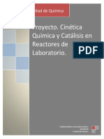 Cinetica Quimica y Catalisisen reactores de laboratorio