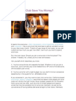 Can a Wine Club Save You Money?