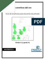 La Aventura Del Oro, Guía de enseñanza  para profesores de primaria en matemáticas