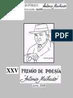 libro poesías 2006. XXV Premio de Poesía