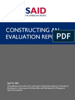 Constructing an Evaluation Report
