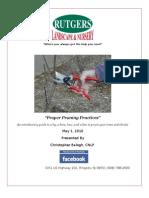 Pruning Seminar 2010