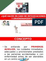 Primeros Auxilios en Intoxicaciones Julio 2014 Cep