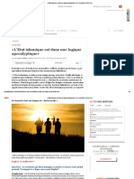 «L'Etat Islamique Est Dans Une Logique Apocalyptique» _ JOL Journalism Online Press