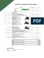 Cotización Central Telefonica Ip