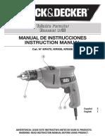 Especificaciones técnicas taladro B&D