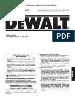 Manual de Instrucciones De Walt
