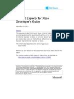 Internet Explorer for Xbox Developers Guide