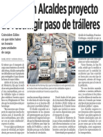 09-04-16 Defienden Alcaldes proyecto de restringir paso de tráileres