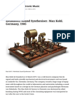Helmholtz Sound Synthesiser