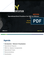 VMWorld 2013 - Operational Best Practices for NSX in VMware Environments