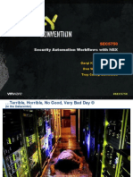 VMWorld 2013 - Security Automation Workflows With NSX