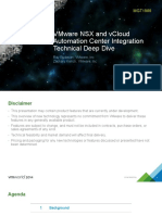 VMWorld 2014 - VMware NSX and VCloud Automation Center Integration Technical Deep Dive