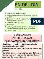 EVALUACION INSTITUCIONAL 2011