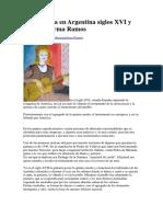 La Guitarra en Argentina Siglos XVI y XVII Por Irma Ramos