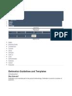 Estimation Guideline- General