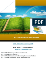 Acc 230 Tutorials Learn by Doing