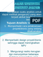 Analisis Sensitivitas Sensitivity Analysis