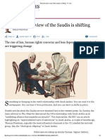 Why the West's View of the Saudis is Shifting - FT