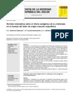 Revisión Sistemática Sobre El Efecto Analgésico de La Crioterapia en El Manejo Del Dolor de Origen Músculo Esquelético