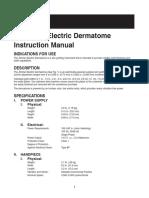 Zimmer Electric Dermatome Ifu