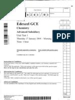 Chemistry A-Level Edexcel 2008 Jan (QP+MS)