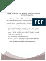 Edital Mostra de Pesquisa XI Congresso de Direito da UFSC