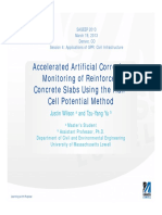 Accelerated Artificial Corrosion Monitoring of Reinforced Concrete Slabs