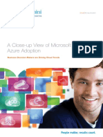 A Close-up View of Microsoft Azure Adoption Business Decision-makers Are Driving Cloud Trends