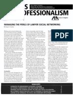 Dane S. Ciolino, Managing the Perils of Lawyer Social Networking