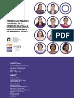 Presencia de Mujeres y Hombres en El Estado de Guatemala