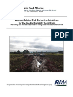Weather Related Risk Reduction Guidelines for Seed Crops