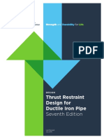 Thrust Restraint Design for DI Pipe
