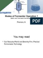 Batch and Fed-batch Fermentation