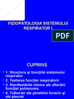 Cursul Nr. 1 - Fiziopatologia Sistemului Respirator I