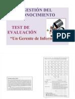 TEST DE AUTOEVALUACION-GESTION DEL CONOCIMIENTO