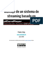 Montaje Streamer Basado en PiCorePlayer
