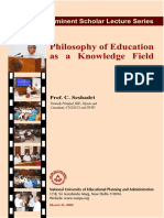 Philosophy of Education as a Knowledge Field