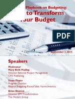 Slide Deck Centage Sponsored CFO Playbook Webcast on Budgeting 09-01-15