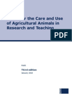 Care and Use of Agricultural Animals in Research