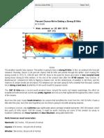 Probabilidad Fuerte El Niño 2015