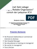 ICU as High Reliability Organization IHQN
